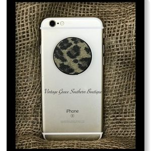 Sparkle Leopard Phone Grip